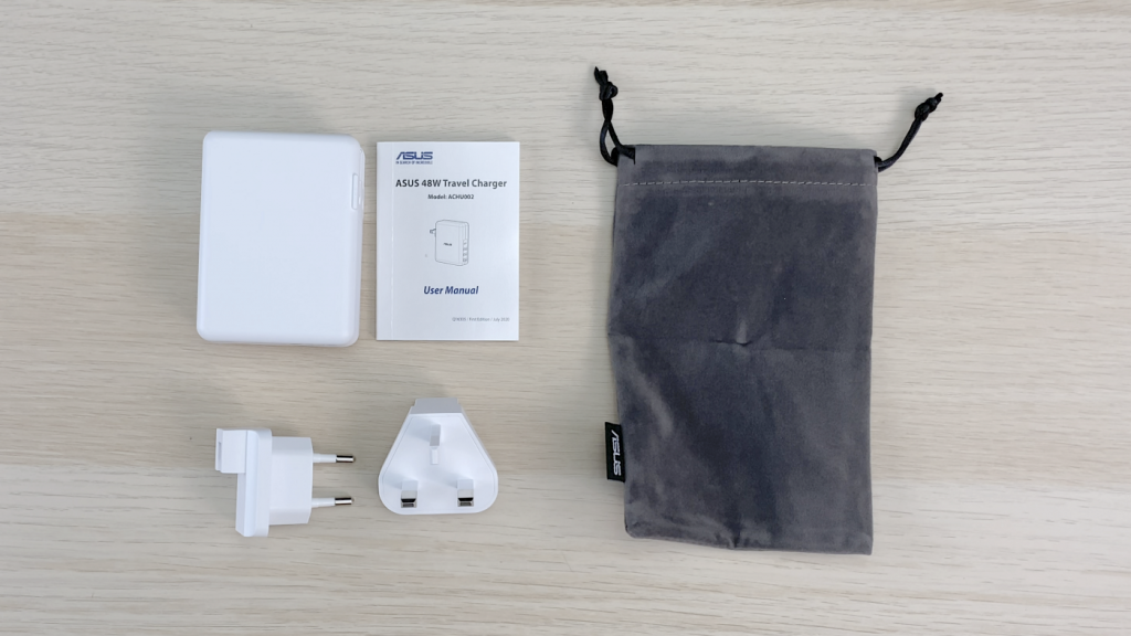 純白 ASUS Travel Charger 48W 4Port 旅充開箱