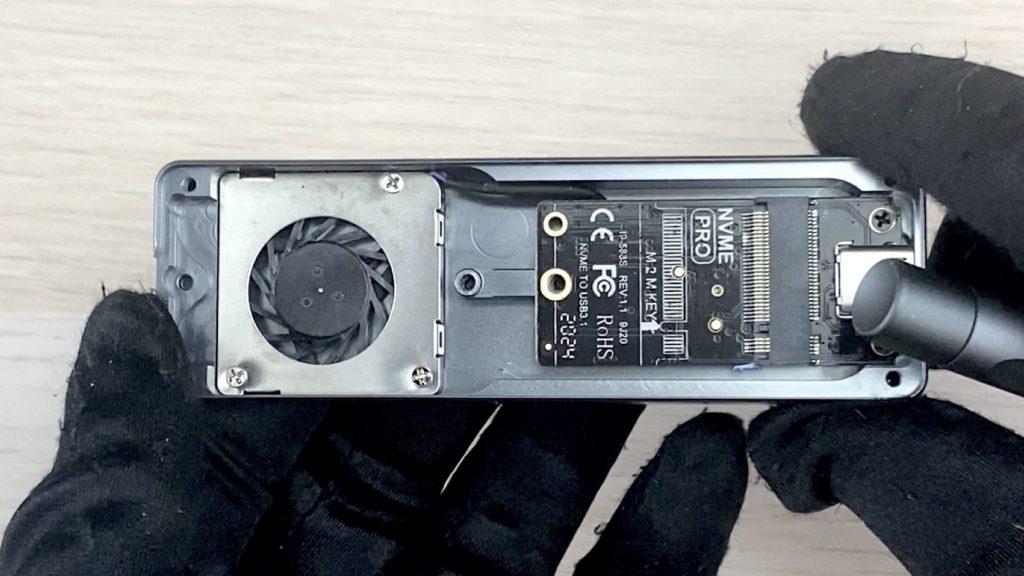 開箱 NODA Turbine 內建風扇的 SSD 外接盒 - 18
