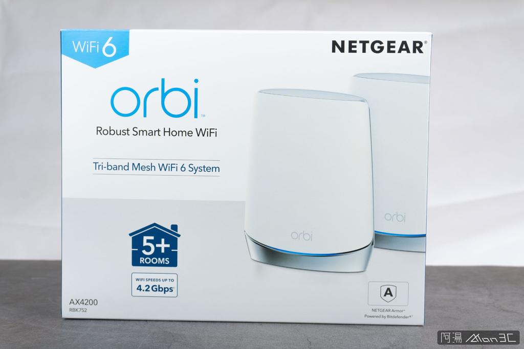 「開箱」NETGEAR Orbi RBK752 AX4200 W - 1